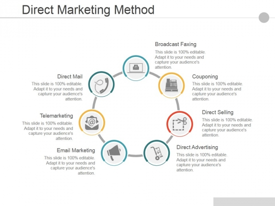 Direct Marketing Method Ppt PowerPoint Presentation Icon Rules