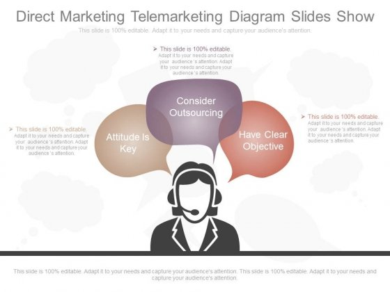 Direct Marketing Telemarketing Diagram Slides Show