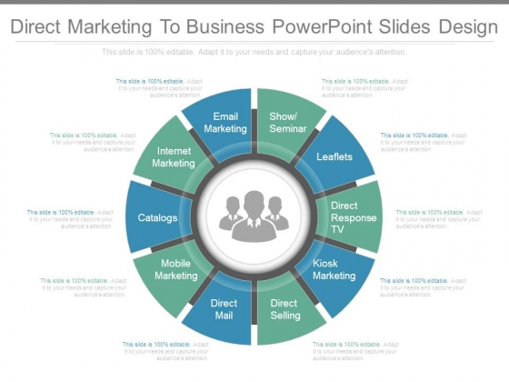 Direct Marketing To Business Powerpoint Slides Design