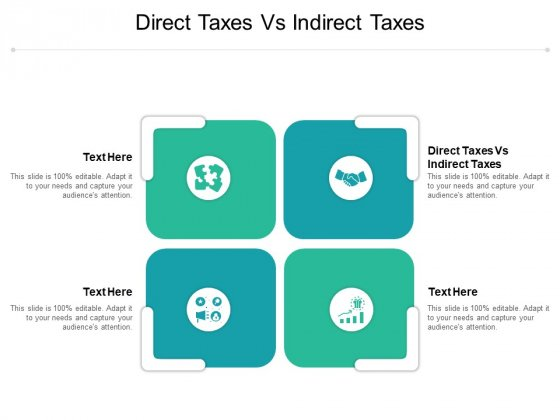 Direct Taxes Vs Indirect Taxes Ppt PowerPoint Presentation Model Picture Cpb Pdf