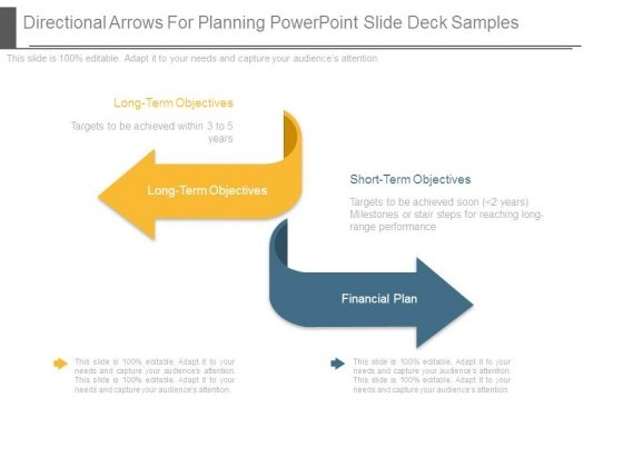 Directional Arrows For Planning Powerpoint Slide Deck Samples