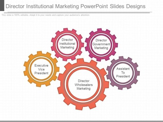 Director Institutional Marketing Powerpoint Slides Designs
