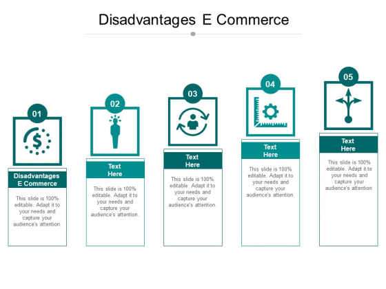Disadvantages E Commerce Ppt PowerPoint Presentation Layouts Show Cpb