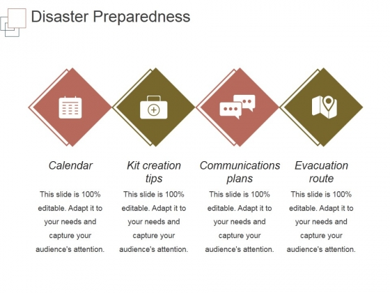 Disaster Preparedness Template 2 Ppt PowerPoint Presentation Visual Aids