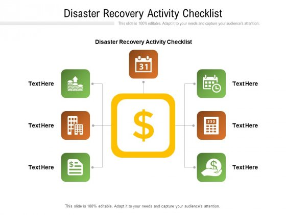 Disaster Recovery Activity Checklist Ppt PowerPoint Presentation Summary Example Topics Cpb Pdf