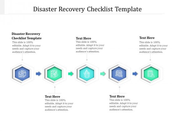 Disaster Recovery Checklist Template Ppt PowerPoint Presentation Outline Inspiration Cpb Pdf