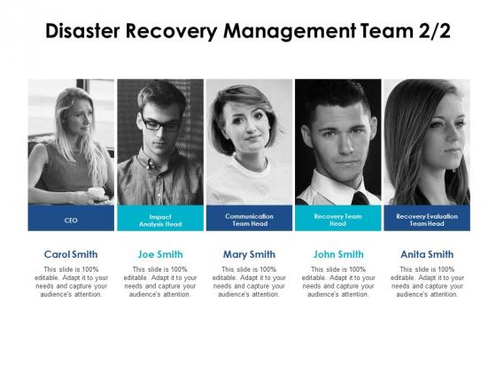 Disaster Recovery Management Team Communication Ppt PowerPoint Presentation Portfolio Sample