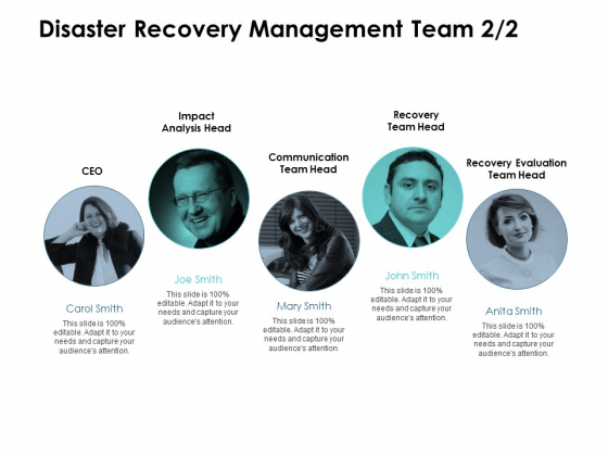 Disaster Recovery Management Team Introduction Communication Ppt PowerPoint Presentation Show Slide Download