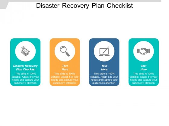 Disaster Recovery Plan Checklist Ppt PowerPoint Presentation Slides Smartart Cpb