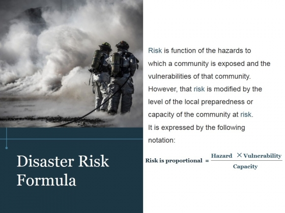 Disaster Risk Formula Template 1 Ppt PowerPoint Presentation Introduction
