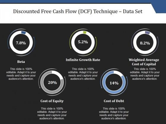 Discounted Free Cash Flow Dcf Technique Data Set Ppt PowerPoint Presentation File Inspiration