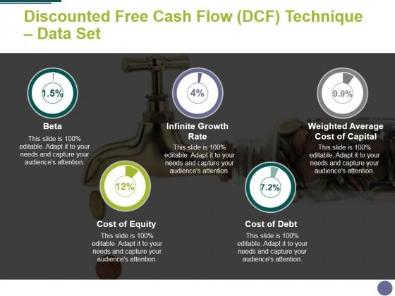 Discounted Free Cash Flow Dcf Technique Data Set Ppt PowerPoint Presentation Summary Slide Download