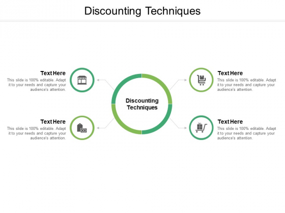 Discounting Techniques Ppt PowerPoint Presentation Slides Influencers Cpb Pdf