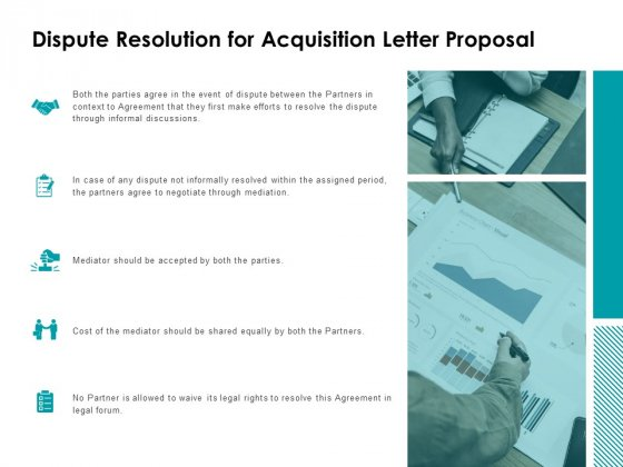 Dispute Resolution For Acquisition Letter Proposal Ppt Powerpoint Presentation Show Graphics