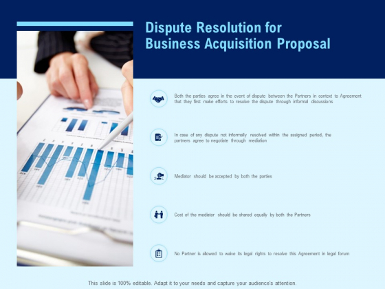 Dispute Resolution For Business Acquisition Proposal Ppt PowerPoint Presentation Infographics Deck