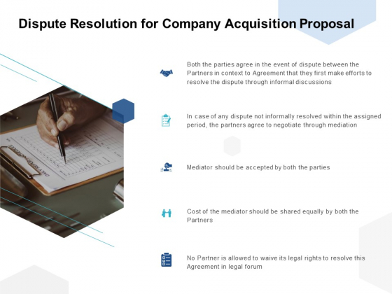 Dispute Resolution For Company Acquisition Proposal Ppt PowerPoint Presentation Summary Graphics Download