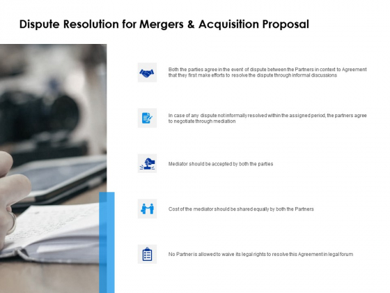 Dispute Resolution For Mergers And Acquisition Proposal Opportunity Ppt PowerPoint Presentation Model Slides