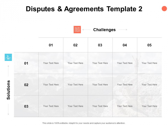Disputes And Agreements Template Compare Ppt PowerPoint Presentation Ideas