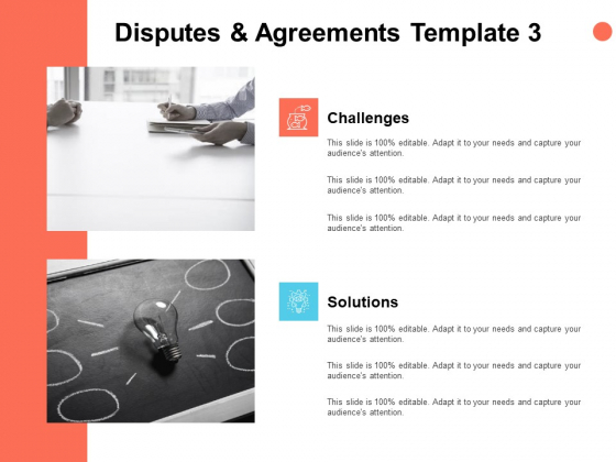 Disputes And Agreements Template Solutions Ppt PowerPoint Presentation Icon Model