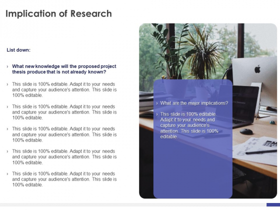 Dissertation Planning Proposal Implication Of Research Ppt File Design Ideas PDF