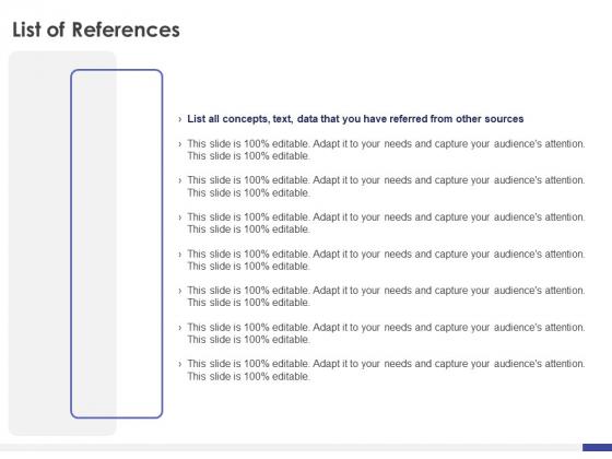 Dissertation Planning Proposal List Of References Ppt Design Templates PDF
