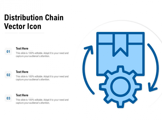 Distribution Chain Vector Icon Ppt PowerPoint Presentation Show Slide