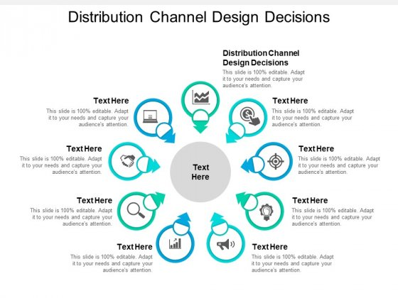 Distribution Channel Design Decisions Ppt PowerPoint Presentation Summary Layouts Cpb
