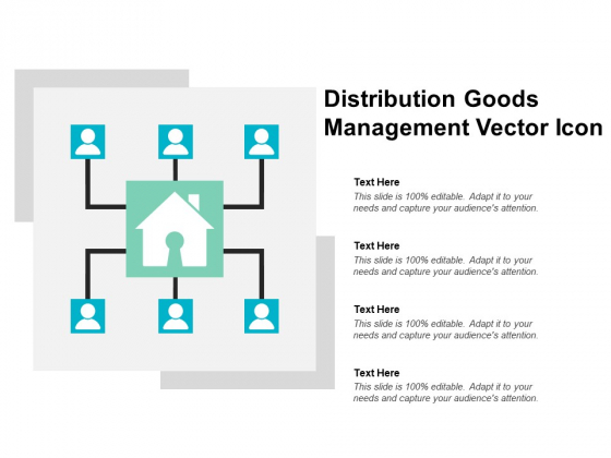 Distribution Goods Management Vector Icon Ppt PowerPoint Presentation Summary Aids
