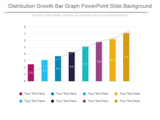 Distribution Growth Bar Graph Powerpoint Slide Background