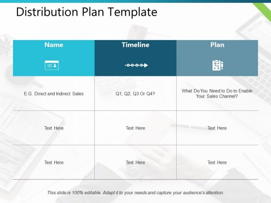Distribution Plan Name Timeline Ppt PowerPoint Presentation Icon Guidelines