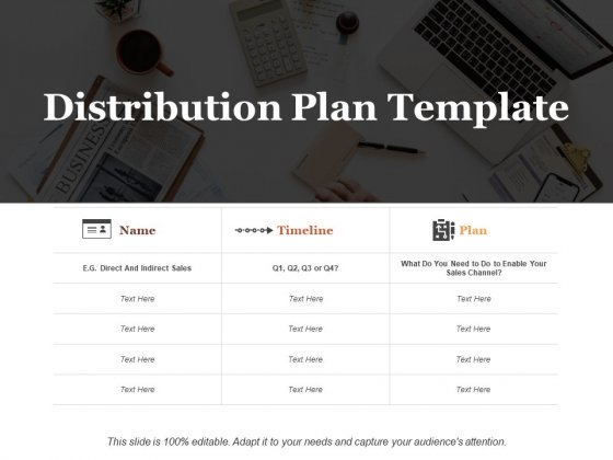 Distribution Plan Ppt PowerPoint Presentation Slides Layouts