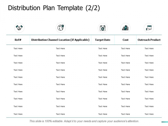 Distribution Plan Template Target Ppt PowerPoint Presentation Layouts Graphic Tips