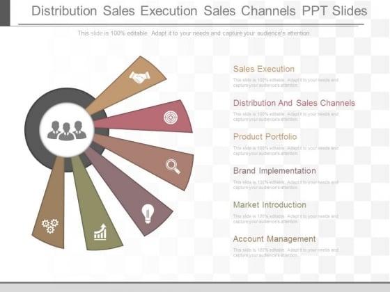 Distribution Sales Execution Sales Channels Ppt Slides