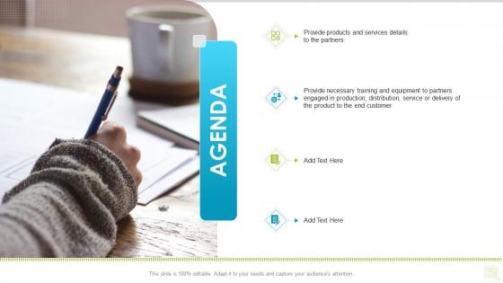 Distributor Entitlement Initiatives Agenda Sample PDF