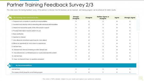Distributor Entitlement Initiatives Partner Training Feedback Survey Develop Portrait PDF