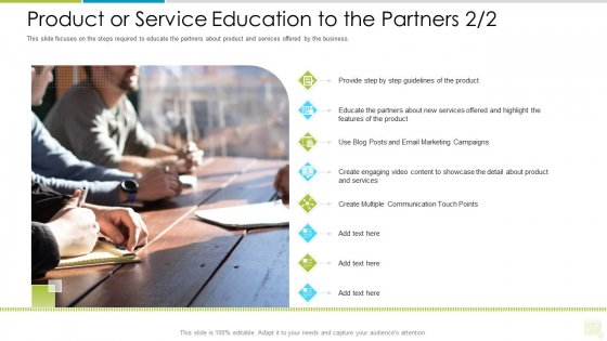 Distributor Entitlement Initiatives Product Or Service Education To The Partners Step Mockup PDF