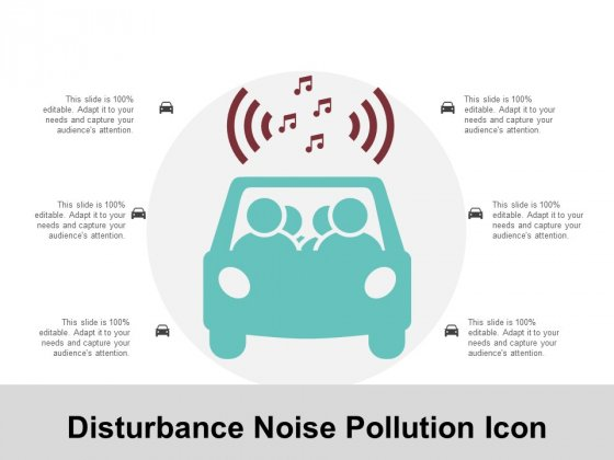 Disturbance Noise Pollution Icon Ppt Powerpoint Presentation Ideas Graphics Example