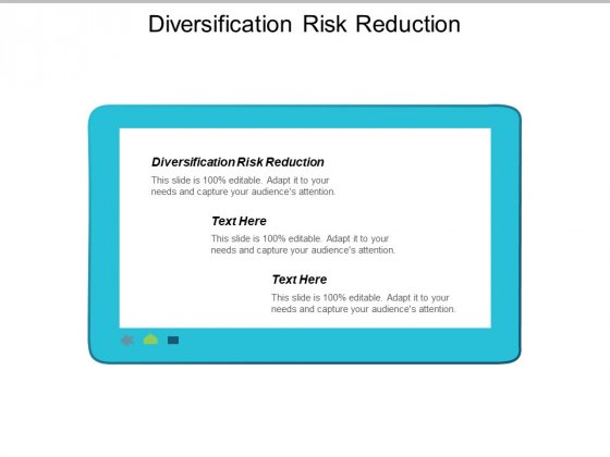 Diversification Risk Reduction Ppt PowerPoint Presentation Professional Outfit Cpb
