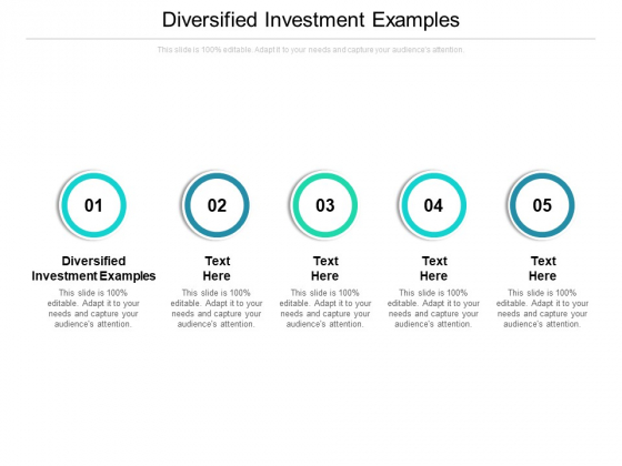 Diversified Investment Examples Ppt PowerPoint Presentation Outline Slides Cpb
