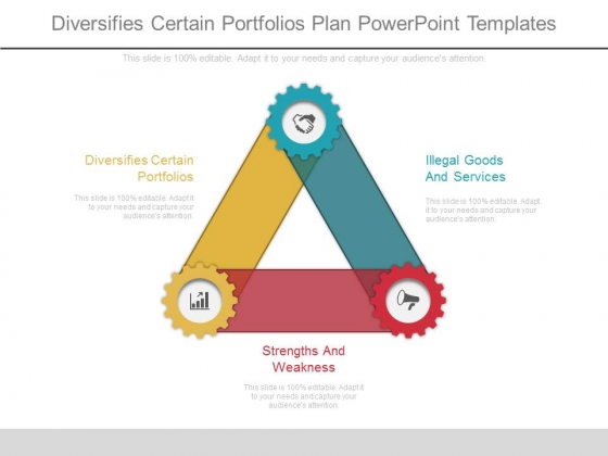 Diversifies Certain Portfolios Plan Powerpoint Templates