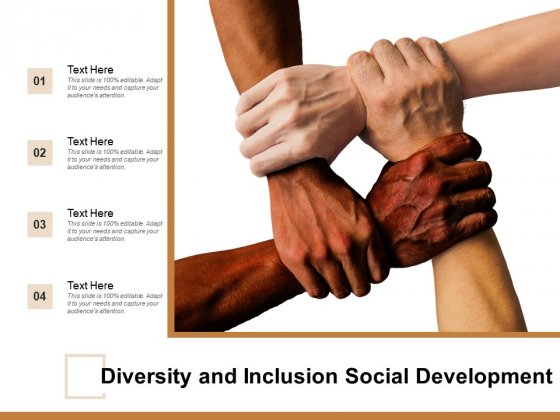 Diversity And Inclusion Social Development Ppt Powerpoint Presentation Visual Aids Ideas