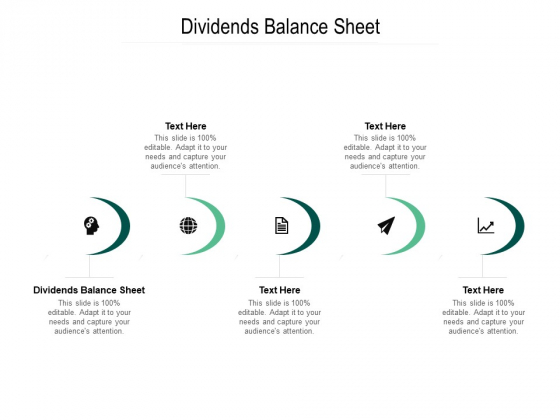 Dividends Balance Sheet Ppt PowerPoint Presentation Styles Design Ideas Cpb Pdf