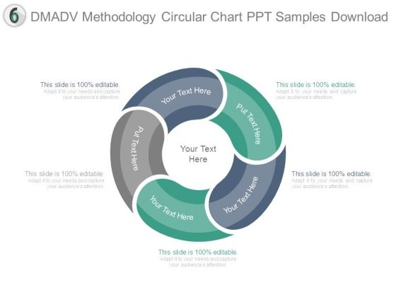 Dmadv Methodology Circular Chart Ppt Samples Download  Powerpoint