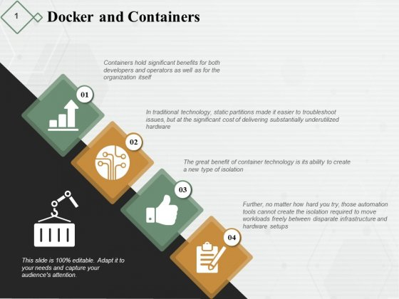 Docker And Containers Ppt PowerPoint Presentation Outline Deck