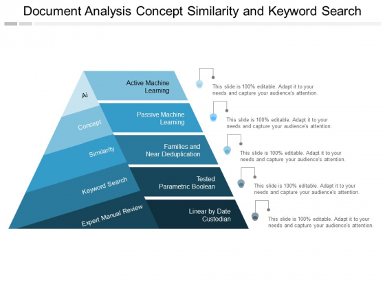 Document Analysis Concept Similarity And Keyword Search Ppt PowerPoint Presentation Gallery Template
