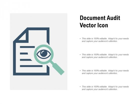 Document Audit Vector Icon Ppt PowerPoint Presentation Show Guidelines