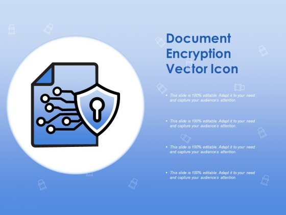 Document Encryption Vector Icon Ppt PowerPoint Presentation Styles Clipart Images