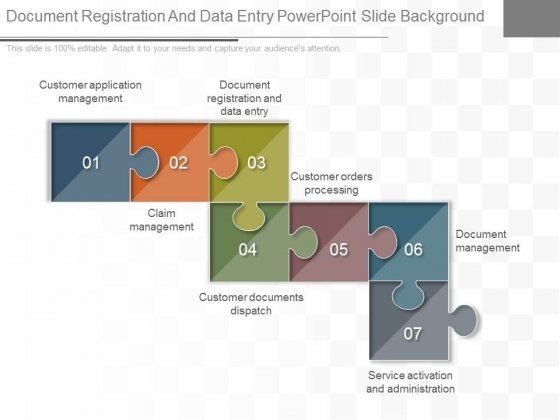 Document Registration And Data Entry Powerpoint Slide Background