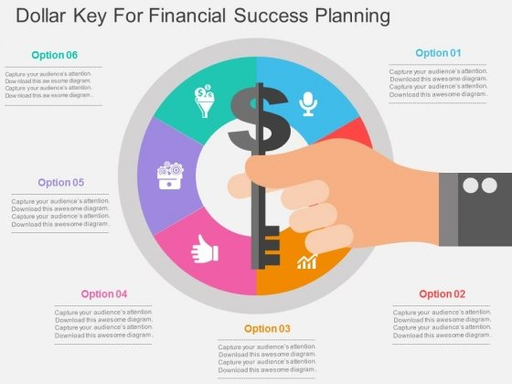 Dollar Key For Financial Success Planning Powerpoint Templates