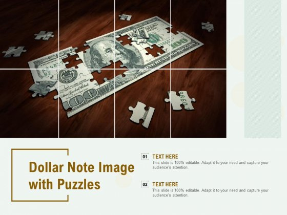 Dollar Note Image With Puzzles Ppt PowerPoint Presentation Pictures Deck
